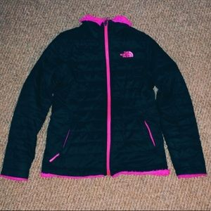 The North Face Black and Pink Reversible Jacket